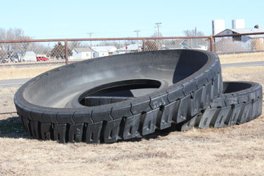 how to use tires for water troughs